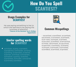 Correct spelling for scantiest