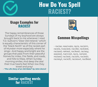 Correct spelling for raciest