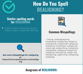 Correct spelling for realigning