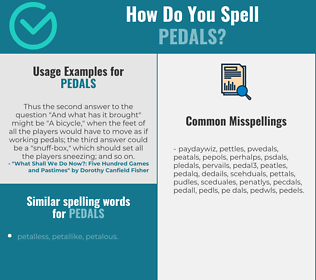 Correct spelling for pedals