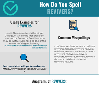 Correct spelling for revivers