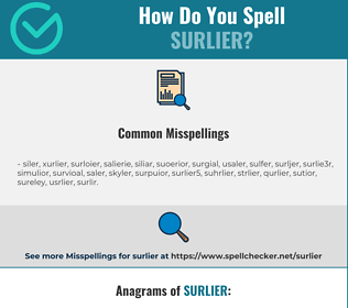 Correct spelling for surlier