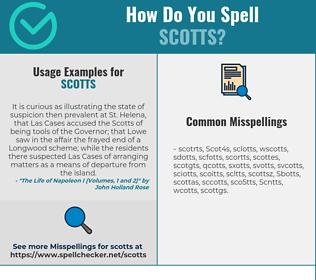 Correct spelling for Scotts