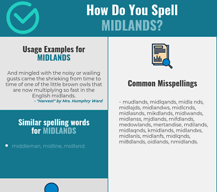 Correct spelling for midlands