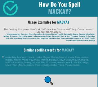 Correct spelling for Mackay