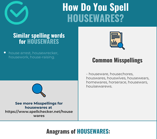 Correct spelling for housewares