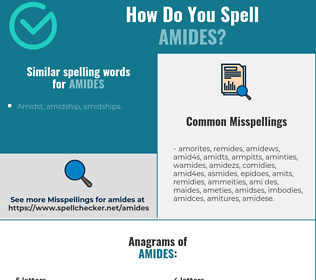 Correct spelling for amides