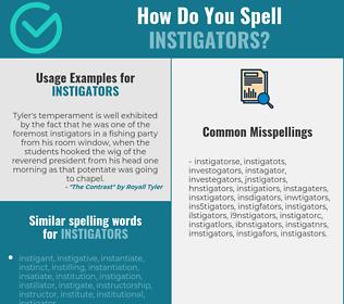 Correct spelling for instigators