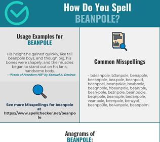 Correct spelling for beanpole