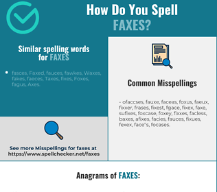 Correct spelling for faxes