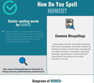 Correct spelling for homed