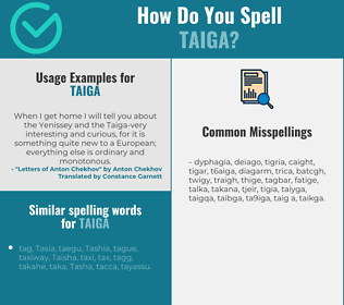 Correct spelling for taiga