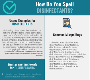 Correct spelling for disinfectants