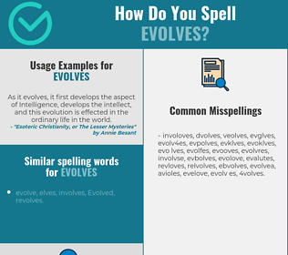 Correct spelling for evolves