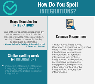 Correct spelling for integrations