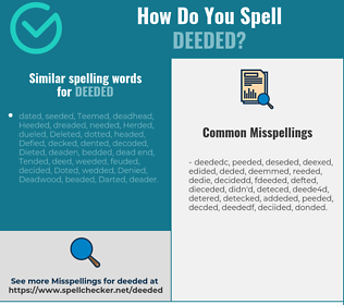 Correct spelling for deeded