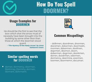 Correct spelling for doormen