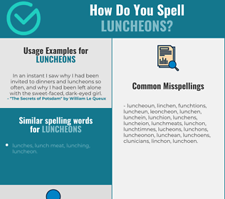 Correct spelling for luncheons
