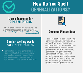 Correct spelling for generalizations