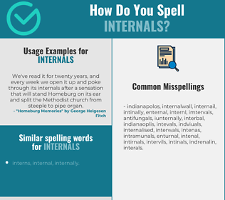 Correct spelling for internals