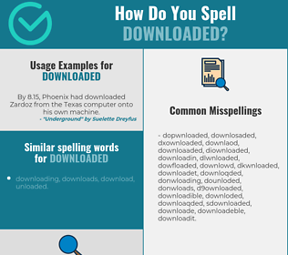 Correct spelling for downloaded