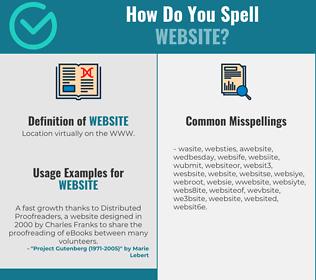 Correct spelling for website