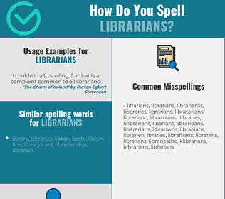 Correct spelling for librarians