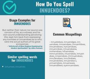 Correct spelling for innuendoes