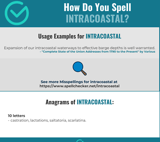 Correct spelling for Intracoastal