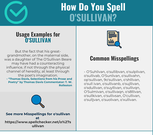 Correct spelling for O'Sullivan