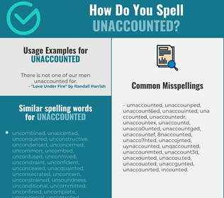 Correct spelling for unaccounted