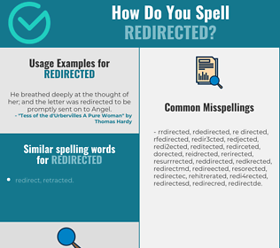 Correct spelling for redirected