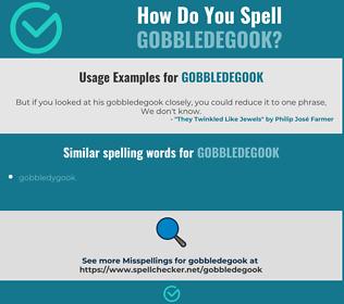 Correct spelling for gobbledegook