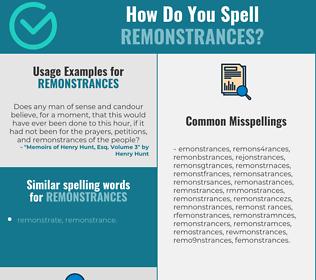 Correct Spelling For Remonstrances Spellchecker Net