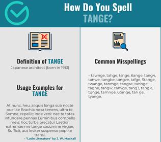 Correct spelling for tange