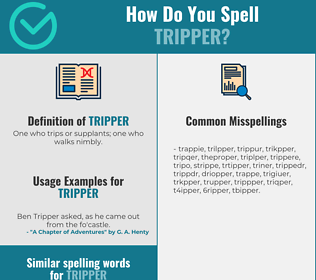 Correct spelling for tripper