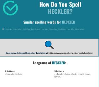 Correct spelling for heckler