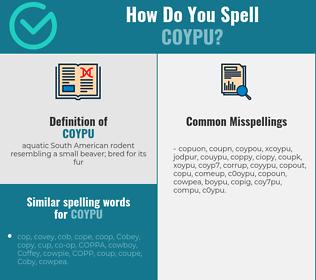 Correct spelling for coypu