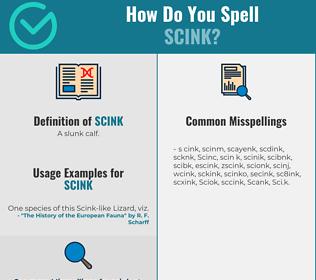 Correct spelling for Scink