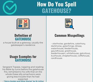 Correct spelling for gatehouse