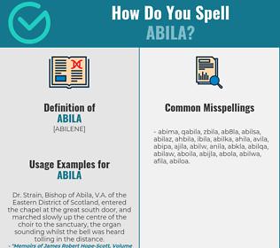 Correct spelling for abila