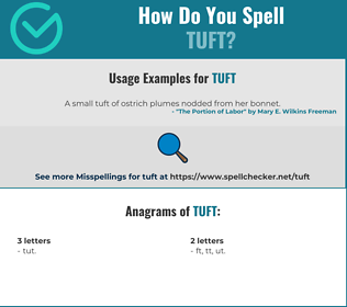 Correct spelling for tuft