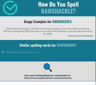 Correct spelling for ramshackle