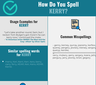 Correct spelling for Kerry