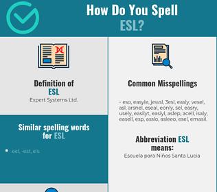 Correct spelling for ESL