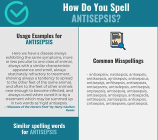 Correct spelling for antisepsis