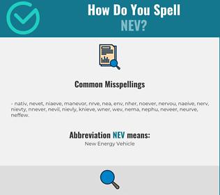 Correct spelling for Nev