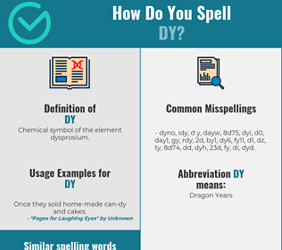 Correct spelling for dy