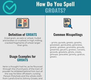 Correct spelling for groats