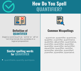 Correct spelling for quantifier